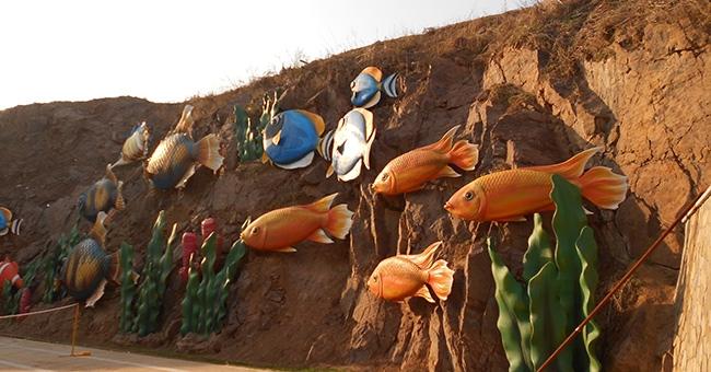 辽阳富虹太子城-岩壁装饰