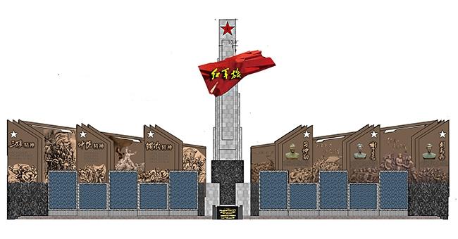 某部队大型景观墙