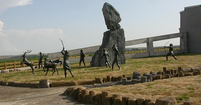 内蒙古博物馆人物群雕